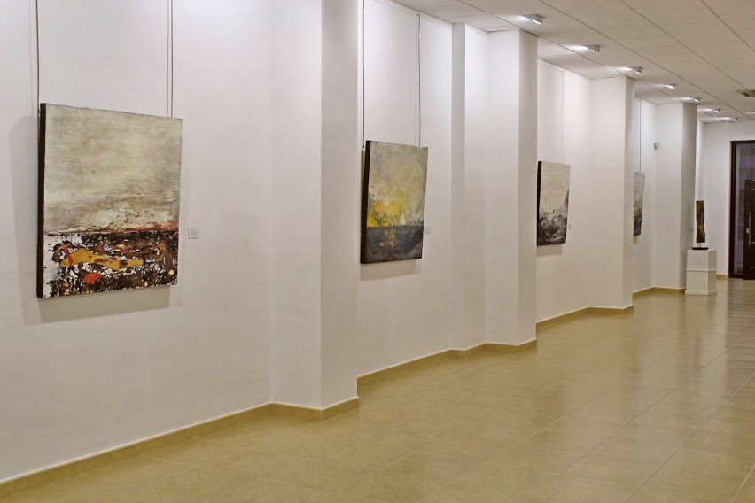 MALAGA, Spain:  Live Surfaces: Belen Millan and Isabel Lopez. Encaustic show at Sala Barbadillo in Malaga.