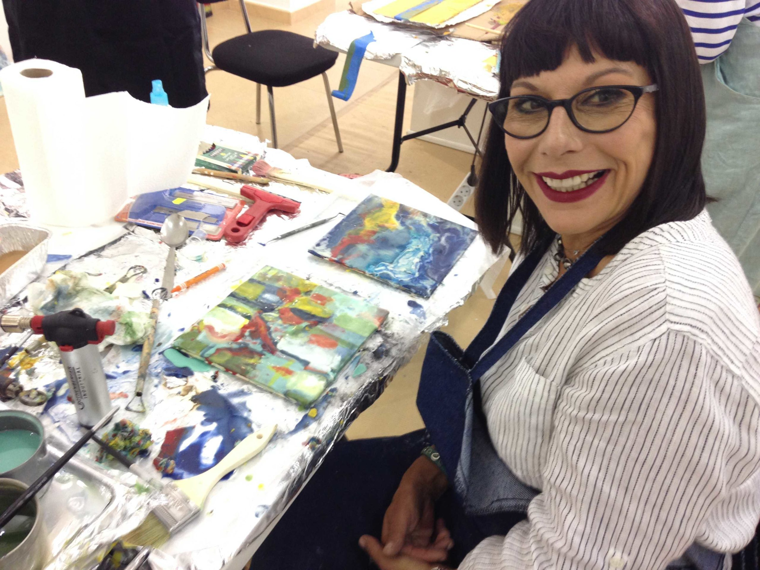 MALAGA, Spain: – October 2014- International Encaustic Artists Retreat taught by Ellen Koment and Belen Millan