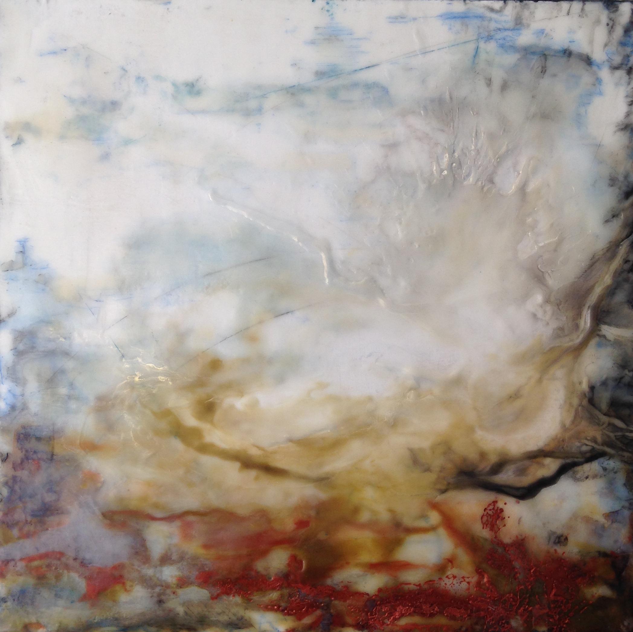 MALAGA,Spain: II Certamen de Pintoras – I am Arte Collective Show – Junta de Andalucia – Ciudad de la Justicia Malaga – NeverSink VII – Encaustic on Wood