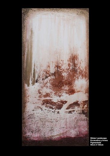 MALAGA , Spain: – Mujeres Pintoras – A colective Show of Female Painters at the Ciudad de la Justicia, Junta de Andalucia. Black/White Night – Encaustic on Paper 50×30 and Winter Landscape Mixed Media 50×100 cm.