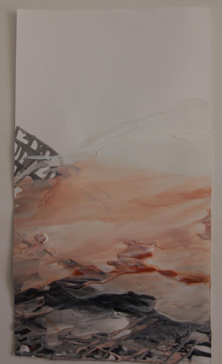 MALAGA, Spain: – Presencias 38 – Obra sobre papel — Collective Show July 17th – Centro Cultural Provincial — White Night – Encaustic on Paper – 43cm x 65cm