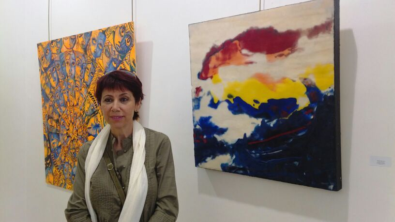 MALAGA, Spain: – Presencias 37- Collective Show – Sala Barbadillo, Malaga – Summer Solstice – Encaustic on Wood 80 x 80 cm