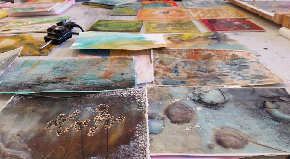 MALAGA, Spain. Lead the Encaustic Retreat with Ellen Koment and Belen Millan – February 2016.