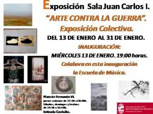 "MADRID, Spain. Participated in ""Arte Contra la Guerra"" Colective Show – Sala Juan Carlos I – San Fernando de Henares January 13 to 31."