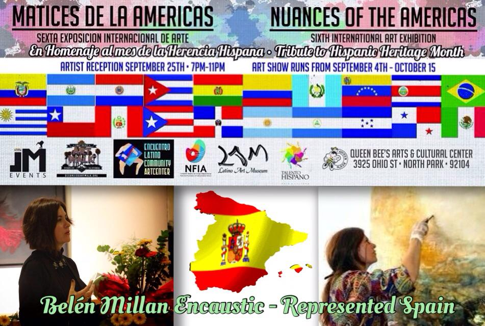 "SAN DIEGO, USA: Representing Spain at the International Art Show ""Nuances of the Americas"" Collective Show at the Queen´s Bee Art and Cultural Center in San Diego during September and October."