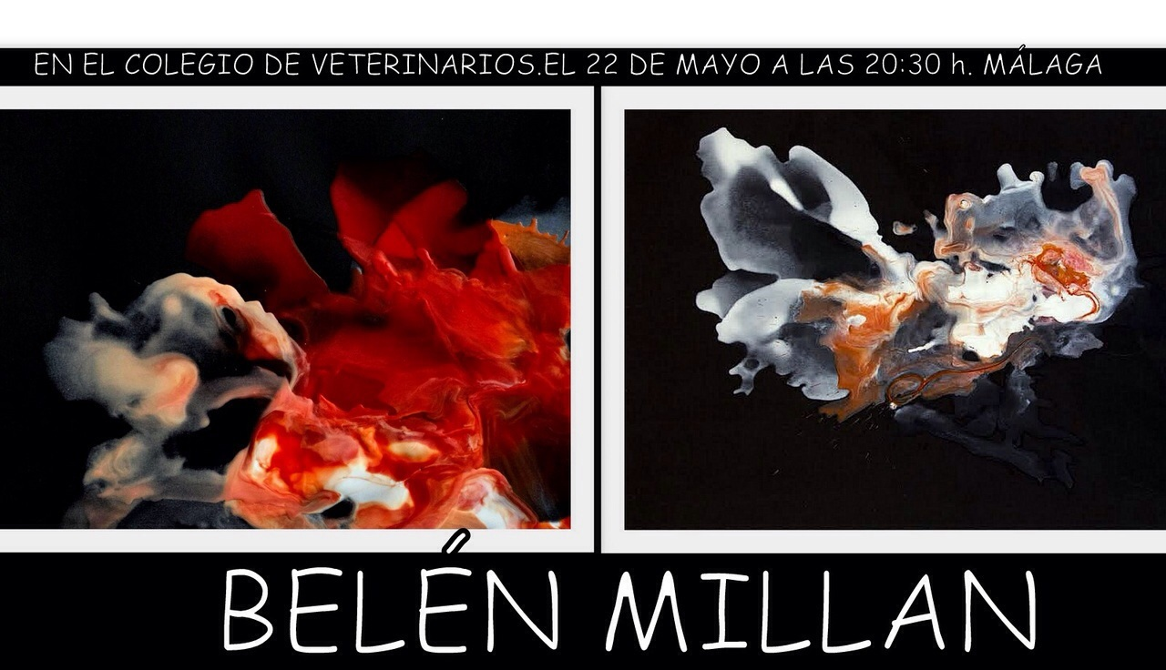 MALAGA, Spain: Espacio Tres Collective Show – May 2015 – showing 5 Encaustic pieces on black paper 100x70cm from the Magnets series